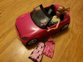 Barbie doll and Barbie car