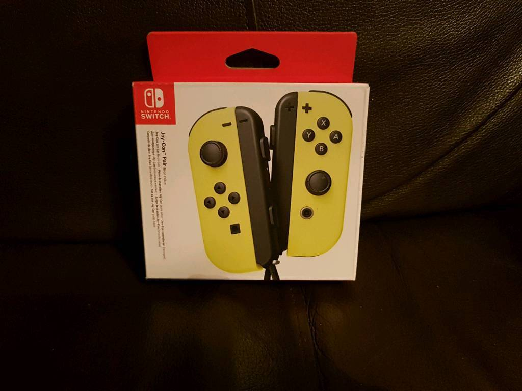 Yellow nintendo switch joy cons brand new