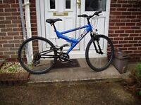 "RALEIGH, MOUNTAIN BIKE, 19"" FRAME, 26"" ALLOY WHEELS, SERVICED."