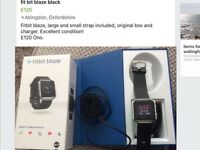 Fitbit blaze large and small black