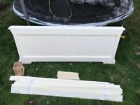Florence double bed parts footboard and sides slats etc