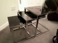 3 Black Glass Coffee Tables