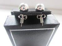 New Ball Shaped Silver Earrings for Pierced Ears