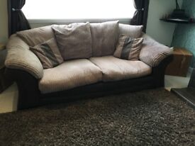 2 seater and 3 seater sofa