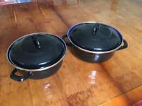 2 Casserole Pans with lids