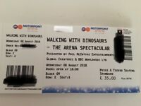 2x walking with dinosaurs tickets Nottingham motorpoint arena