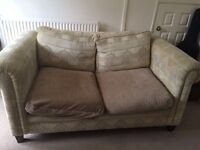 Free two seater sofa, arm chair and footrest