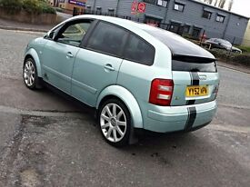 2003 AUDI A2 SPORT,GREEN,1.4,5 SPEED MANUAL,SERVICE HISTORY,S3 ALLOYS WHEELS,TINTED WINDOWS,P/X...