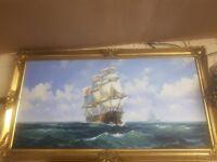 Original sailing ship oil painting