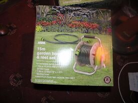 New Boxed Unused 15Metres Reinforced Hose On Reel Weymouth