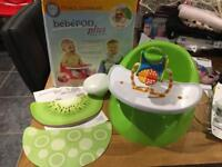 Bebepod plus ( bumbo seat but better!!) as new in box includes toy and mats!