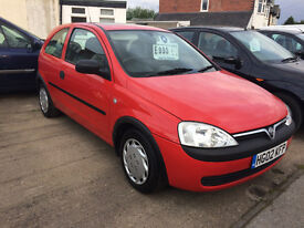 vauxhall corsa 1.0 only 51'000 miles mot march 2018