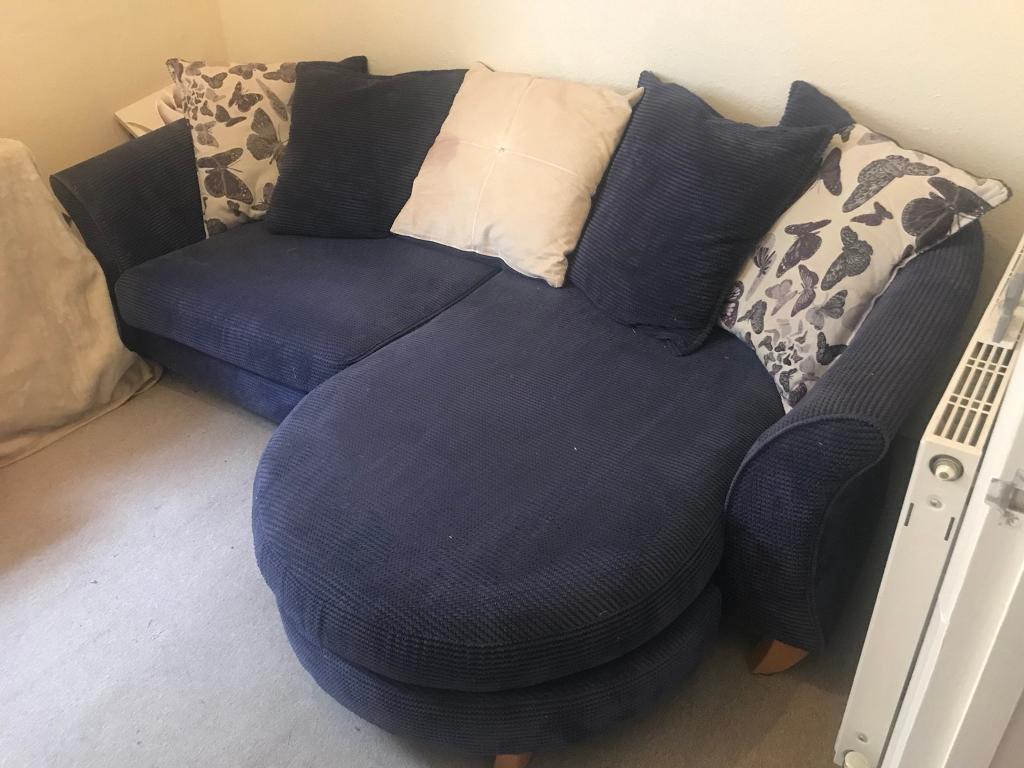Dfs Purple Sofa With Butterfly Pattern In Tunbridge
