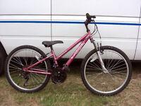 "Girls 24"" wheel mountain bike 18speed shimano gearing fully serviced ready to go"