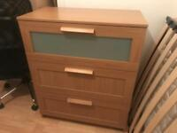 Three tier chest of drawers