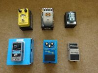 Various Guitar Effects Pedals