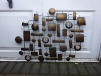 5x various metal wall art.