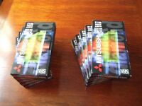 10 BLANK VHS VIDEO TAPES