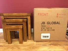Brand New Solid Oak Furnitureland Nest of Tables