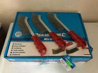 Brand new silverline wire brushes