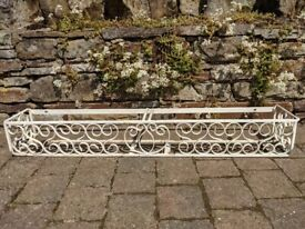 HAND FORGED Wrought Iron WINDOW BOX
