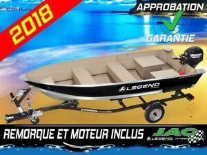 2018 Legend Boats Chaloupe 14 WideBody Mercury 9.9 bateau Pêche