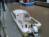 Shetland 536 fishing boat 60hp outboard engine