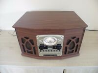 MUSIC SYSTEM, CD ,RECORD DECK, RADIO, CASSETTE, & USB , NEW NEVER USED UNBOXED