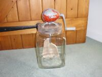 A vintage 'Blow' butter churn 4/40, made in England. 1950's. Still works.