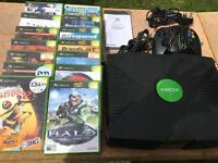 Xbox ORIGINAL retro console complete with 14 games - £49