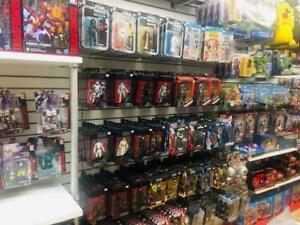Funky Toys Pointe-Claire Toy Store, Beyblade, Marvel, Batman, Minifigures, Kidrobot, Tokidoki,