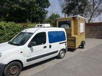 Food trailer with chiller food van