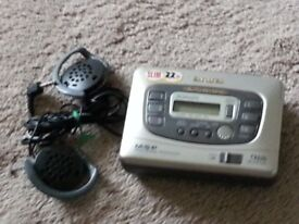 Aiwa personal cassette player and radio