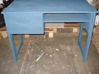 desk painted farrow and ball hague blue