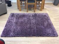 New scs violet endurance fine shaggy rug