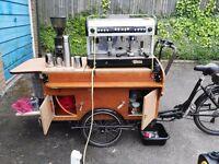 coffee bike trike mobile espresso coffee machine business