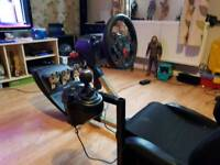 Logitech g29 wit seat and shifter