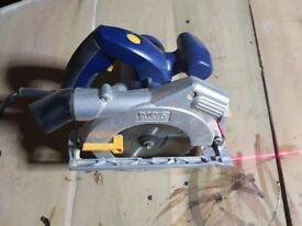 Circular saw with laser