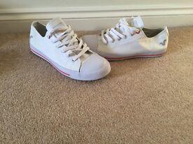 Ladies White Voi trainers size 8
