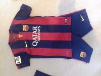 Barcelona football kit. Size S, 128-137cm