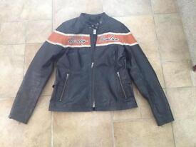 Genuine Harleydavidson ladies leather jacket.