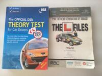 """The Official DSA Theory test for car drivers. Plus """"The L fILES"""" book."""