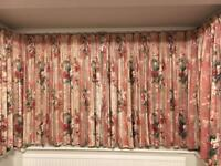 Bay Window Curtains with Lining