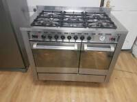 Diplomat Dual Fuel Range cooker 100cm width. Free local delivery