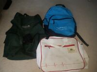 Backpacks - three used but still alive
