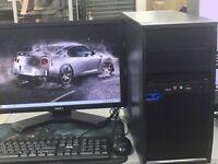 FAST DESKTOP GAMING COMPUTER PC INTEL i3 2.93GHz 8GB RAM 750 GB DVDR