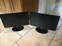 2 Samsung 21,5'' SyncMaster T22B300 Monitors Good Condition