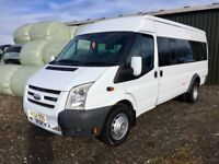 FORD TRANSIT LX MINIBUS 17 SEAT 2 OWNER CHARITY OWNED LOWEST MILES ANYPLACE A MERE 70K FIRST CLASS