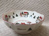 Masons Irnstone Christmas Village Large Bowl. Outstanding Low Price Here Flawless acondition.