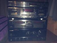 Pioneer system - Amplifier - tuner -equalizer - cassette deck